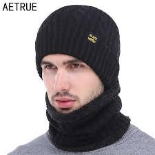 AETRUE <b>Winter Hat Scarf</b> Skullies Beanies Men Bonnet <b>Beanie</b> For ...
