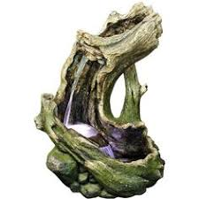 patio fountains water rainforest outdoor fountain lamps plus led two tier log waterfall outdoor fountain  a liked on