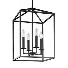 perryton blacksmith 155 inch four light lantern pendant black pendant lighting