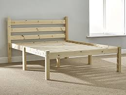 4ft pine bed HEAVY DUTY <b>solid</b> pine wooden small double <b>bed frame</b>