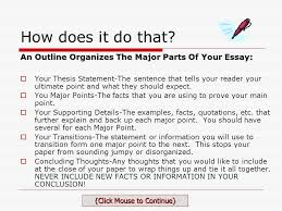 writing an essay outline take time now to save time later click  an outline organizes the major parts of your essay