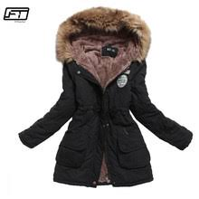 Best value Cotton <b>Padded</b> Hooded <b>Jacket</b> Winter <b>Coat</b> Women ...