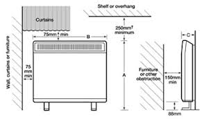installed heating storage heaters packing
