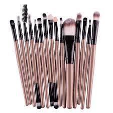 MAANGE Pro 15Pcs <b>Makeup</b> Brushes <b>Set</b> Eye Shadow <b>Foundation</b> ...