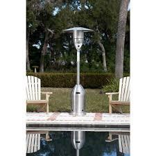 output stainless patio heater: fire sense  btu stainless steel propane gas patio heater  the home depot