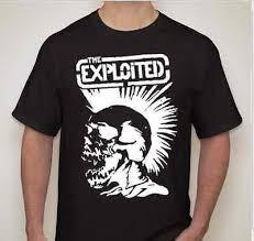 THE EXPLOITED Mohawk <b>skull Punk</b> rock <b>hardcore</b> thrash <b>band</b> T ...