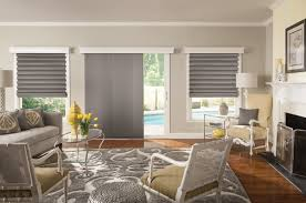 a growing trend in covering sliding glass doors is sliding panels also known as panel track blinds this blind is made up of a custom number of fabric blind shades sliding glass