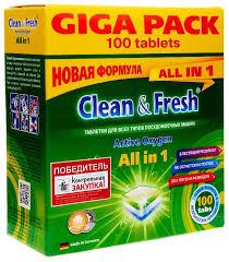 <b>Clean & Fresh</b> All in 1 <b>таблетки для</b> посудомоечной машины ...