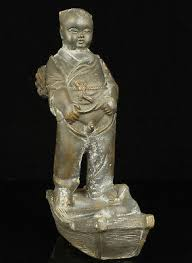 <b>China</b> Collectible <b>Handwork Carving</b> Bronze Rare Child Statue ...
