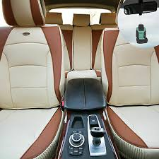 <b>Car Seat Cover Luxury</b> Leatherette Full Set Beige Tan w/ Free Gift ...
