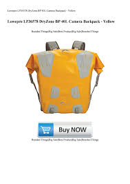 <b>Lowepro</b> LP36578 <b>DryZone</b> BP <b>40L</b> Camera <b>Backpack</b> - Yellow by ...