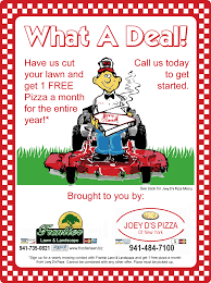 co marketing your lawn care business a restaurant or pizzeria lawn care flyer