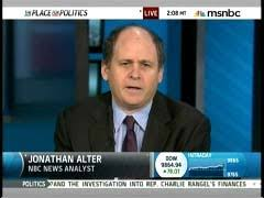 Alter's an MSNBC kind of guy, not that there's anything wrong with that.