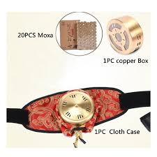 20Pcs 5years <b>Moxa</b> And 1Pc Thickening <b>Copper Moxibustion</b> Box ...