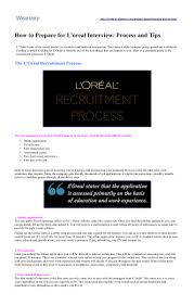 how to prepare for l oreal interview process and tips wisest