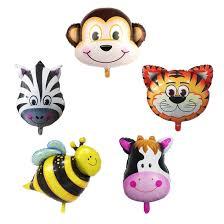 Hot Jungle <b>Animal</b> foil Balloons <b>Tiger</b> Lion monkey <b>zebra</b> deer cow ...