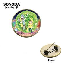 SONGDA 2018 <b>New Arrival Creative</b> Rick And Morty Brooch ...