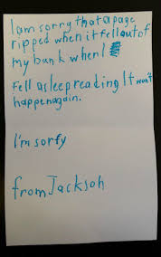 toronto boy writes adorable apology note for torn library book image source toronto public library