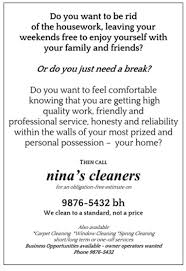 direct marketing for your home cleaning service from the ad leaflet