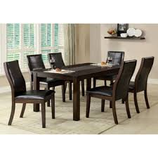 seven piece dining set: furniture of america yani  piece mosaic insert dining set
