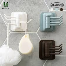 UNTIOR <b>Wall Mounted Rotatable Hook</b> Up Clothing Display Storage ...