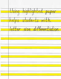 handwriting paper highlight cover letter templates handwriting paper highlight printable handwriting paper color rule and yellow printable writing paper