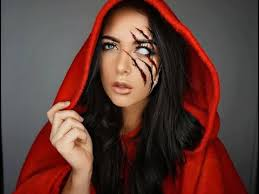 makeup tutorial inspired by the little red riding hood