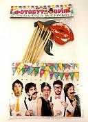 """Декор бумажный """"Фотобутафория Усы и губы"""", в наборе 15штук ..."""