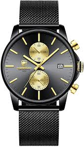 GOLDEN HOUR <b>Men's Watch Fashion Sport</b> Quartz Analog Mesh ...