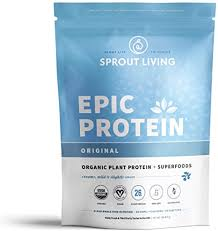 Sprout Living <b>Epic Protein Powder</b>, Original Flavor, <b>Organic Plant</b>