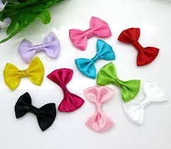 <b>50pcs</b> Mixed Baby Satin <b>Ribbon</b> Polyester Bowknot Hair Clips ...