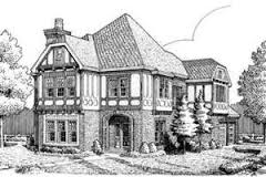 Tudor House Plans   Houseplans comTudor Exterior   Front Elevation Plan       Houseplans com