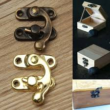 jiamy1  12pcs <b>Vintage Antique Metal Lock</b> Horn Curved Buckle Gift ...