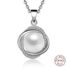 925 Sterling Silver <b>Unique</b> Design Love <b>Natural Pearl</b> Pendant ...