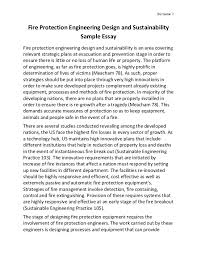 fire protection engineering design and sustainabilitysur   fire protection engineering design and sustainability sample essay fire protection engineering design and sustai