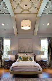 bedrooms example of a trendy bedroom design in other with purple walls bedroom lighting guide