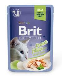<b>Brit Пауч</b> для кошек <b>JELLY</b> Trout fillets Кусочки из филе форели в ...