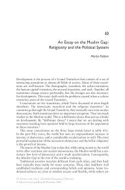 an essay on the muslim gap  religiosity and the political system    inside