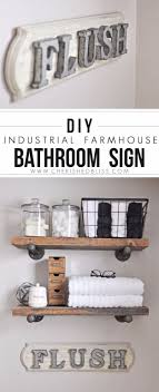 diy livingroom decor diy farmhouse style decor ideas diy industrial farmhouse bathroom sign
