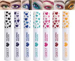 <b>7 Colors Colorful</b> Mascara Rainbow Colorful Waterproof Mascara ...