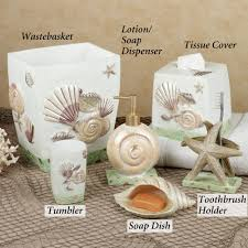 beach themed bathroom accessories idea:  amazing seashell bathroom accessories photo  overview with pictures and seashell bathroom decor