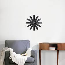 <b>Часы настенные Ribbon чёрныe</b> от Umbra (арт. 118070-040 ...