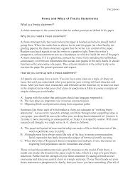 of thesis statement in an essay purpose of thesis statement in an essay