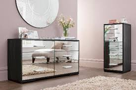 mirrored bedroom furniture glass