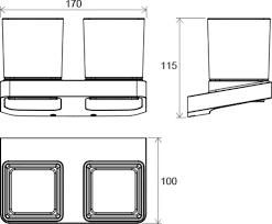 <b>Держатель с двумя стаканами</b> (стекло) TD 220.00, X07P322 ...