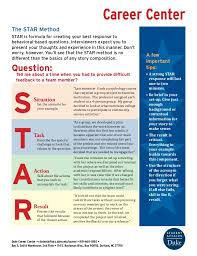 Star Worksheet Career Center The STAR Method STAR is formula for creating your best response to behavioral- ...