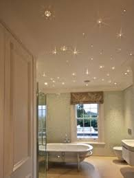 i would love to do this in the bathroom there is a sense of serenity with the starry night lighting scheme at night the room becomes a place of calmness bathroom lighting scheme