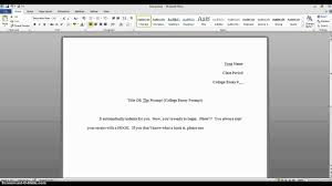 tutorial how to set up your college essay tutorial how to set up your college essay