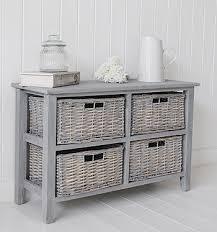 white storage unit wicker: