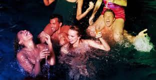 Image result for night pool party
